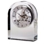 Dartington Crystal Mantle Clock, personalised, ref DCCC